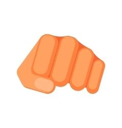 Kicking fist is symbol aggression vector
