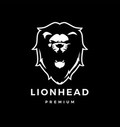 Lion head logo icon vector