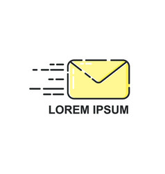 logo template envelope icon vector image