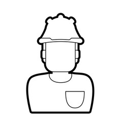 man with industrial equipment design vector image