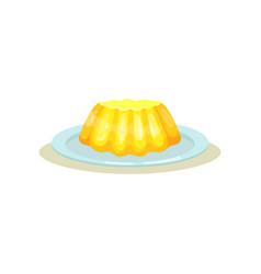 Mini lemon tart on plate delicious dessert made vector