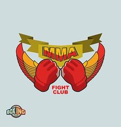 Mixed Martial Arts logo MMA emblem vector image
