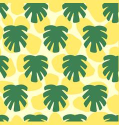 monstera tropical jungle seamless pattern vector image