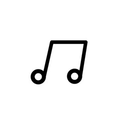 musical note icon vector image