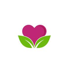 nature love logo icon design vector image