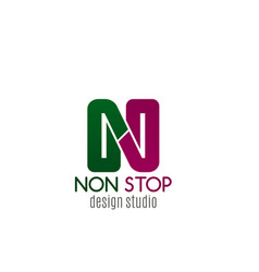 nonstop design studio icon vector image