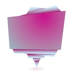 Origami pink element vector
