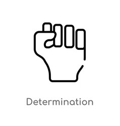 Outline determination icon isolated black simple vector