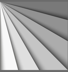 overlapping grey paper sheets arranged in a fan vector image