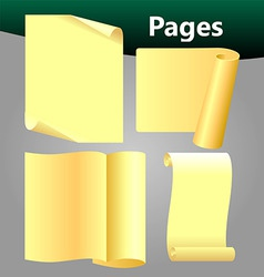 pages vector image vector image