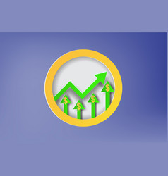 paper art of dollar sign price increase graph vector image