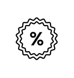 percent - line design single isolated icon vector image