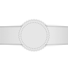 Realistic white blank Badge on Ribbon vector image