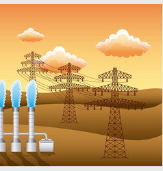 renewable energy clean design vector image