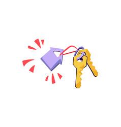 Rental real estate concept keys vector