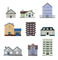 Residential house buildings vector