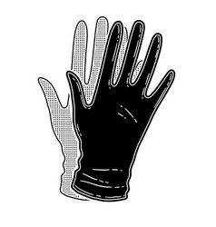 rubber gloves vector image