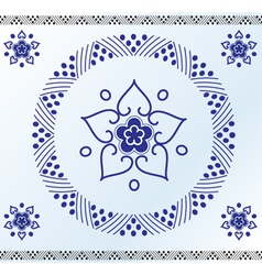 Rustic floral frame vector image vector image
