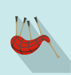 scootish bagpipes icon flat style vector image