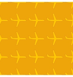 Seamless pattern with flat styled plane vector image