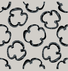 Seamless pattern with hand drawn stylized grilled vector