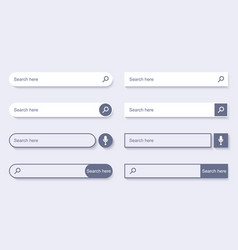 search bar for ui design navigation bar vector image