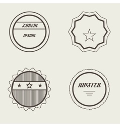 Set of Retro Stamps and Badges Vintage vector image