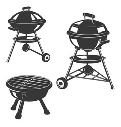 set of the grills isolated on white background vector image