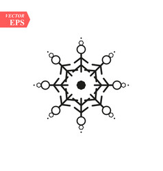 snowflake icon flat in black on white background vector image