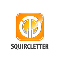 squircle initial letter tw logo concept design vector image