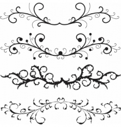 vector set of floral patterns vector image