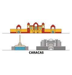 Venezuela caracas flat landmarks vector