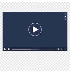 Video Player mockup vector