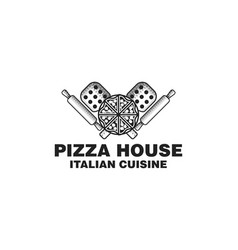 vintage italian pizza logo vector image