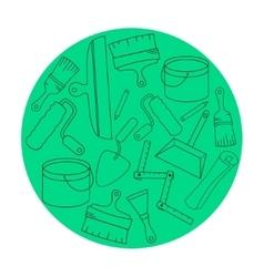 Wallpaper DIY shop logotype design templates vector image