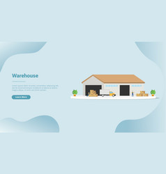 Warehouse goods industry for website template or vector