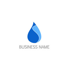 Water droplet bio logo vector