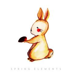 watercolor cute rabbit collection vector image