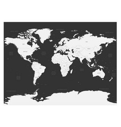 World map on dark background high detail blank vector