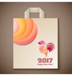Year of rooster design for paper bag vector