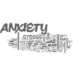 Anxiety text word cloud concept vector