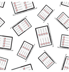 businessman checklist with notebook seamless vector image