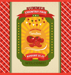 country fair vintage invitation card vector image vector image