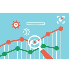 Flat concept of web analytics information vector image vector image