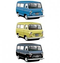 vintage van set vector image