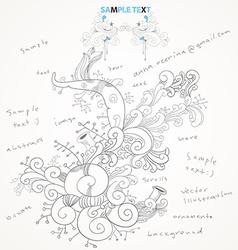 Floral Design Sketch vector image vector image