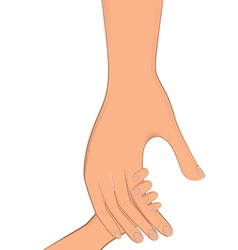 hand real oneinone vector image vector image