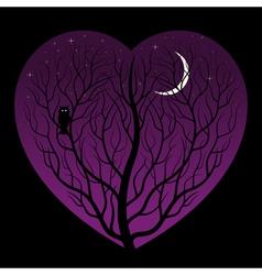 night in heart vector image
