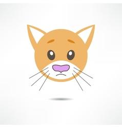 Sad cat vector image vector image