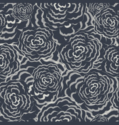 seamless floral sketch pattern vector image